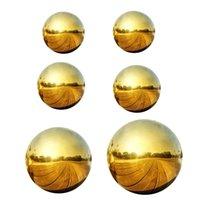 Itens de novidade 6 pcs casa decoração brilhante espelho polido aço inoxidável resistente 50-150 mm interior reflexivo ao ar livre ornamento de esfera