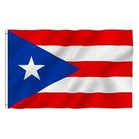 بويرتو ريكو العلم الوطني 3x5ft 150x90 سنتيمتر 100d 100٪ البوليستر راية النحاس الحلقات للزينة شنقا الإعلان سفينة البحر FWE8398