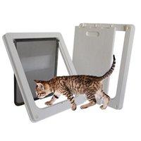 الحيوانات الأليفة القط الباب صغير الحيوان البلاستيك المغناطيسي قابلة للقفل كيتي بوابة جرو الكلب لوازم قفل شركات رفرف آمنة، صناديق المنازل