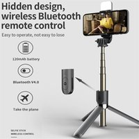 4 in1 monopod Wireless Bluetooth Selfie Stick With LED Fill Light Foldable Tripod Extendable For IOS Android Phone