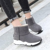 Boots Women Snow 2021 Winter All-weather Flat Bottom Plus Thick Warm Booties Students Ankle Shoes