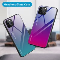 Gradient Tempered Glass Back Phone Cases For iPhone 12 Mini 11 Pro XS Max X XR 7 8 6 6S Plus SE Protector Fundas