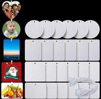 Cartes d'arôme Sublimation Vief Air Ferrinisseur 10 * 7cm Feuille de matériau en feutre Blanc Sans parfum Fragrances de la maison Voiture Air Terrains avec chaîne SN2234
