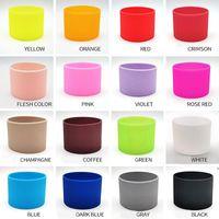 Tenedor de la taza de silicona antis-escaldado multicolor Tazas de vidrio Tazas de agua de vidrio Tazas de aislamiento antideslizantes DHD6378