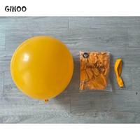 حزب الديكور gihoo 10 قطع 24 بوصة ريترو اللون اللاتكس بالون الأصفر البني جولة فول الأخضر ل الزفاف عيد ديكور