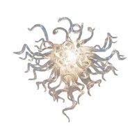100% handgeblasen weiß Klarglas Pendelleuchten Hängende Kronleuchter Herzförmige geformte LED moderne Wohnkultur-Beleuchtung