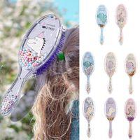 Hair Brushes Gift Anti-static Plastic Handle Cartoon Soft Wet Dry Bristles Brush Comb Tool