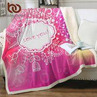 Beddingoutlet Flower Sherpa бросить одеяло розовый желтый кроватями любовь буквы плюшевые диван для детей лозы цветочные тонкие одеяла