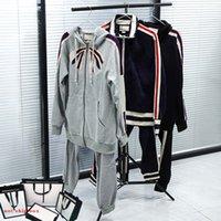 Мужчины трексуиты наборы женские куртки костюм классические буквы брюки из двух частей костюмы повседневные с длинными рукавами спорт мода спортивная одежда дизайнерские толстовки куртка 4 стилей 8 вариантов