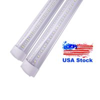 Integrate V Shape LED Tube 4ft 5ft 6ft 8ft T8 Tubes Double 8 ft Cool Light Freezer shop lights linkable Plug and Play High Output Integrated Bulbs (25-Pack) Stock in USA