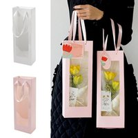 1Pcs Paper Flower Wraping Box Festival Decoration Gift Candy Packing HandBag Multifunction Party Wedding Favor Bag Supplies Wrap1