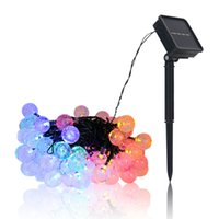 Solar String Lights Outdoor Solar Patio Lights with 8 Modes, Waterproof Crystal Ball String Lights for Patio, Lawn, Gazebo, Party, Wedding, Garden Decorations In Stock