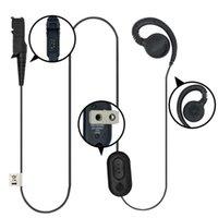 Walkie Talkie HKLN4436A Kulaklık Kulaklık ile PTT MIC ile Motorola XPR3300 XPR3500 Taşınabilir Radyo Siyah