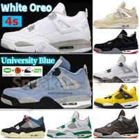 2021 white oreo xsail University Blue 4s 4 men women basketball shoes Bred fire red Paris Black Cat SP Taupe Haze sneakers trainers