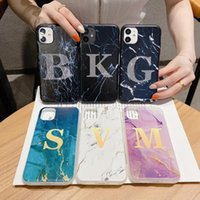 Words Marble Soft TPU Cases For Iphone 12 11 Pro XR XS MAX 8 7 Silicone Natural Stone Bling Rock Phone Back Skin Cover Coque Fashion