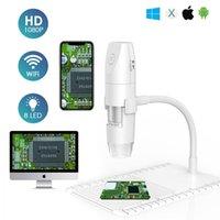Cameras Wireless Handheld Camera WiFi Digital Microscope USB 1080P Portable With 8 LED Lights 50X-1000X Adjustable