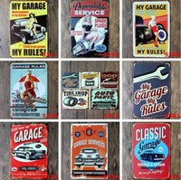 Custom Metal Tin Signs Sinclair Motor Oil Texaco poster home bar decor wall art pictures Vintage Garage Sign 20X30cm sea ship DHB6665