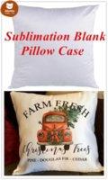 Plain White Sublimation Blank Pillow Case Fashion Cushion Pillowcase Cover for Heat Press Printing Throw Pillow Covers Decorative te