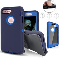 Defender Phone Cases Armor Hybrid Robot Rugged Heavy Duty Cover With Belt Clip Holster Shockproof Waterproof For iPhone Xs 6 7 8 Plus 11 pro max 12 mini Galaxy Note 10 S9