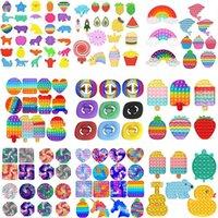 Fidget Prestiver Toys Toys Toys Rainbow Push Bubble Antistress Sensory Toy Sensory Para aliviar el autismo DHL envío