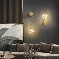 Moderne LED Glaskugel Wandleuchte Wandlampe Lampada Kameraschlafzimmer Dinging Zimmerlampe