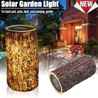 Открытый водонепроницаемый солнечный светодиодный пнем легкий садовые украшения огни ландшафтные лампы освещения