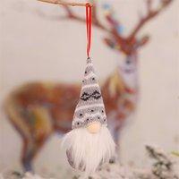 Christmas Pendant Drop Ornaments Gnomes Plush Santa Doll Xmas Gonk Dwarf Elf Decoration Gifts Halloween Faceless