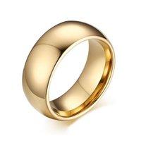 Banda di nozze color oro per uomo Qualità 857 Anello di gioielli in carburo di tungsteno Moda 8mm larghezza anelli di fidanzamento