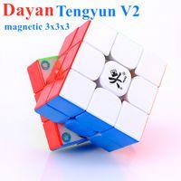Dayan Tengyun V2 M 자기 3x3x3 매직 큐브 3x3 자석 퍼즐 큐브 Tengyun V2M 속도 큐브 3x3x3 Cubo Magico