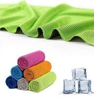 90 * 30 سنتيمتر الصيف الشمس الرياضة ممارسة بارد سريع الجافة لينة تنفس تنفس منشفة الجليد منشفة الباردة التبريد