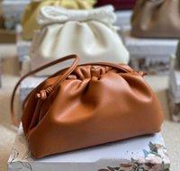 leather designer clutch purse Bag Women Leather Underarm Cloud Bottag With Single Shoulder Oblique Span Cowhide Purse 1 zz wan card holder