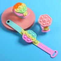 Fidget Bracelet Push Bubble Fidgets Toys for Boy Girl Adult Man Woman Silicone Wearable Sensory Stress Relief Simple Dimple Bracelets Watch Wristband