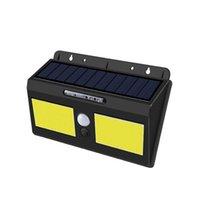 Solars 램프 야외 태양 모션 센서 벽 빛 40 LED IP65 방수 무선 solarr 벽 램프 가든 파티오 마당 갑판 Crestech168