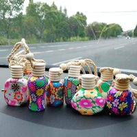Парфюмерные бутылки полимерные глины пустые духи эфирные масла диффузоров мода автомобиль подвесной автомобиль висит орнамент упаковочные бутылки HWD10108