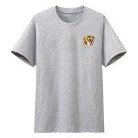 Homens camisetas verão camiseta de manga curta tigre cabeça impressão tee tops casual marca homens roupas