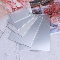 5 tailles de poche rectangle maquillage pliant miroirs pliants ultra-mince maquillage miroir de maquillage personnalisé miroir cosmétique compact portable