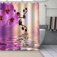 Arrival Orchid Shower Curtains DIY Bathroom Curtain Fabric Washable Polyester for Bathtub Art Decor Drop 210608