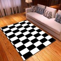 Carpets Geometric Living Room Rugs Decorative Bedroom Kids Floor Mats Home Balcony Childrens Bedside Non-Slip 3D Large Carpett