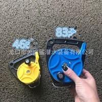 150 272ft سكوبا الغوص بكرة بكرة الإصبع خط قابل للسحب بكرات مع مقبض سدادة للغطس الرياضات المياه تحت الماء والعتاد 618 x2