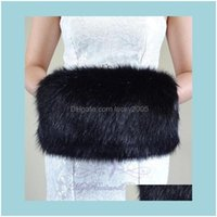 , Party & Events Quality Faux Fur Winter Hand Muff Ivory White Black Red Color Warm Bridal Handwarmers Wedding Gloves Aessories Lgnr4