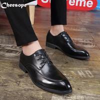 حذاء اللباس بسيط رسمي أكسفورد جلد الرجال الزفاف الدانتيل متابعة مكتب الأعمال الصلبة