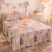 Sheets & Sets 100% Cotton Bed Linen Queen Skirt Flat Sheet King Full Double Size Bedspread Lace Soft Mattress Cover 1.5 1.8m Adult Kids