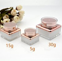 5g 15g 30g Empty Cream Jar Plastic Acrylic Refillable Bottle Makeup Pot Travel Face Lotion Cosmetic Container SN2280