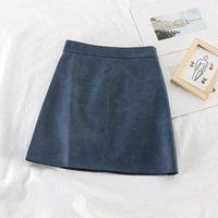 Skirts HELIAR 2021 Spring Wome PU Leather Bodycon High Waist Mini Sexy Highstreet Autumn Female Women