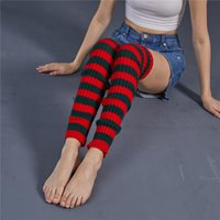 Socks & Hosiery Female Striped Knitted Socks, Women Warm Foot Cover Halloween Dress Up Accessories Party Thick Leg Cover, 8 Colors