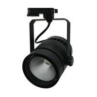 트랙 조명 LED 가벼운 스포트 라이트 110V 220V COB 벽 램프 40W 50W 알루미늄 레일 조명기구 주방 홈 샵을위한