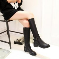 Boots YMECHIC Women Over The Knee 2021 Autumn Winter Thigh High Ladies Black Long Booties Block Heels Vintage Shoes Size 34-43