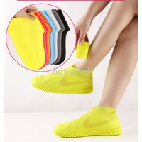 New Silicone Shoe Covers Waterproof And Rainproof Wear-Resistant Rain Boots Portable Rainproof Shoe Covers For Men And Women Wholesale