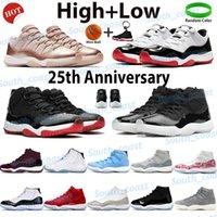 2021 Hombres Zapatos de baloncesto Sneakers High Sneakers Jubileo 25 aniversario Bred Legend Blue Spack Atasco Concord 45 Pantone Cool Green Gris Low Cherry Mens Entrenadores