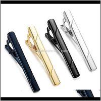 Cufflinks Clasps Tacks Livraison de bijoux 2021 Formelle Mens de cuivre Fashion Mode Stripe Stripe Stripe Simple Cravate Cravate Cravate Barre Clip Clip Pince à pince